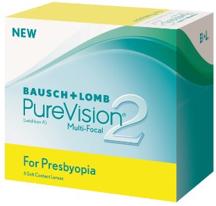 Pure Vision 2 for Presbyopa 6 pk progressiv linse
